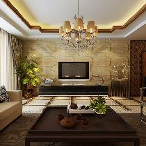 7万118平米庄重典雅新中式风格装修设计效果图