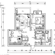 简约风格 2房2厅1卫88平米