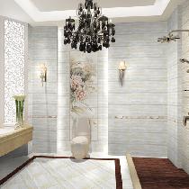 卫生间也是选用格莱斯的瓷砖,瓷砖的色彩和图案丰富多样,防污效果好,但耐磨性不如通体砖,它分亮光和亚光两种,一般做厨卫及室内空间墙面使用。