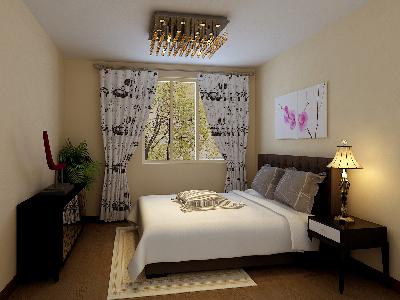 芍药居北里-90平米-地中海风格的装修案例-卧室效果图