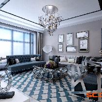 维多利亚C区悦景园3号楼168㎡后奢现代风设计与装修