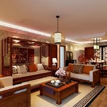 古典四居室完美演绎胜古家园 非沉稳派120平米东南亚风格