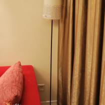 沙发的一角,宜家的灯