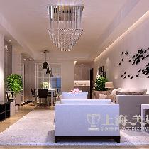 蓝天空港148平装修优雅自在 新中式书香四居室——客餐厅效果图