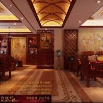 龙发装饰首席设计师许晓舵-名门华都200平米宫廷中式风格