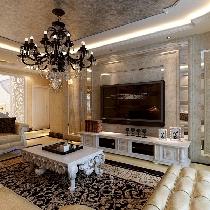 哈尔滨实创14万塑造南极国际148平奢华欧式风格