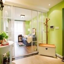 100平生机盎然绿色3居 为小家营造清新柔美气象