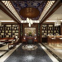 华贸东滩别墅装修中式风格设计
