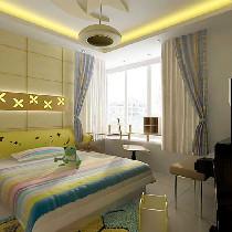 设计理念:清新感一直延伸到主卧,使整个居室空间更统一和谐,浅色为基调。 亮点:大卧室足以可以放下两米宽的大床,让业主回到宽敞居室空间休憩!