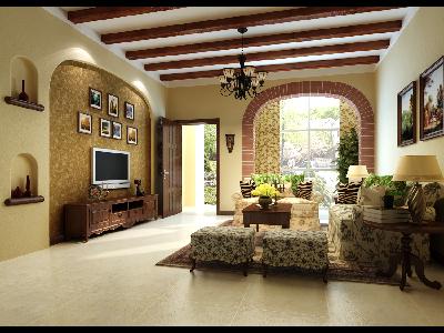 联排别墅美式乡村风格装修设计