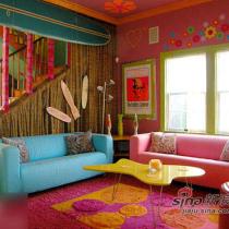 缤纷色彩打造度假别墅风