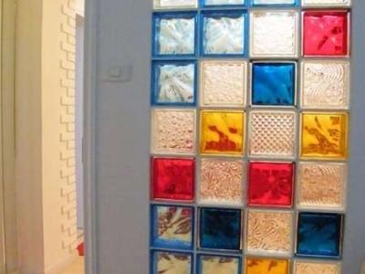 主卧玻璃砖(卷帘开 夜晚)