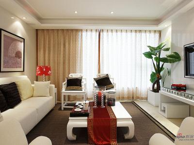 中式简约客厅设计