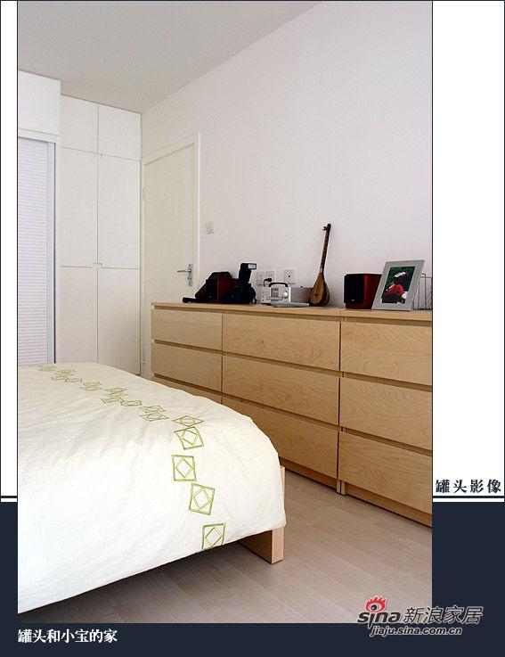 卧室的衣橱虽然也是用了比较软的杉木,但是衣橱因为隔断多,问题不大