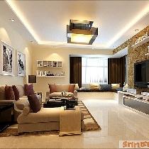 美观与实用的结合装修145平米众美城A户型简约温馨4居图