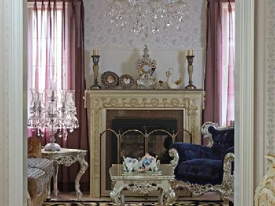 【实景装修案例】400平别墅精致舒适与品质的完美演绎-英式乡村-客厅实景图