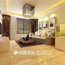 本案以浅色为主,灰色的沙发,抛釉的大地砖,整体的风格以大方,明亮,简单为主题。色调基本以暖色为主。
