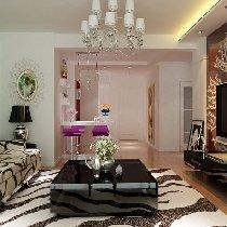 都市白领花7.5万演绎97平米浪漫惬意现代简约二居室装修