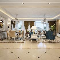 玄关柜一隔两厅,高品位土豪掷21w打造豪华欧式四居室