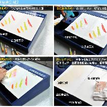 """全能净漆板上的蜡笔笔迹无法完全擦去,但经擦洗后漆膜仍完好无损;而普通漆漆板的蜡笔笔迹虽被""""擦去"""",但表面漆膜已被破坏,相当于刮了一层漆下来,并不能证明其抗污易洁性能强,反从另一侧面看出,普通墙面漆的漆膜脆弱不耐擦,而嘉宝莉海藻泥全能净全效墙面漆的漆膜坚韧耐擦洗。"""