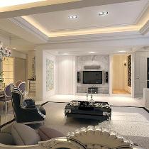 265平新古典奢华别墅 订制家具与相片砖巧妙搭配