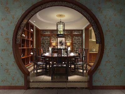 成都装修设计 川豪装饰 龙城一号案例 中式风格餐厅设计