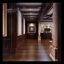 装修案例-祥云国际经典欧式风格装修-石家庄实创装饰-走廊效果图