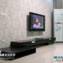 电视墙,有些电器还没买回来,呵呵