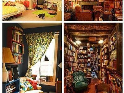 堆积满满的书房,也乱而有序
