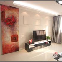 红白黑83平简约婚房 巧妙设计增加可用空间