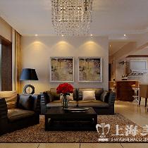天骄华庭90平三室装修深色现代简约效果图样板间——沙发布局