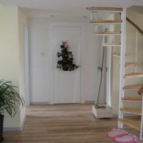 客厅一角(白色背景后身为卫生间门,考虑到风水问题,简单隐形了)