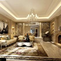 上海天安花园别墅欧式新古典风格设计