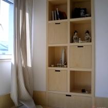 利用原来门位置改的书架