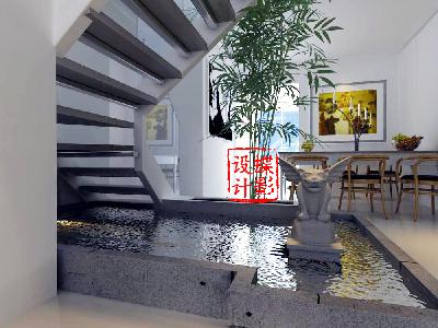 北欧简约大宅设计——楼梯