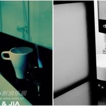 厕所一角,门做成透明磨沙移门,浪漫点