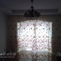 客厅蝴蝶窗帘
