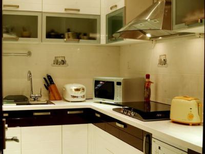 洗碗机是海尔的,烟机和灶具是普天的