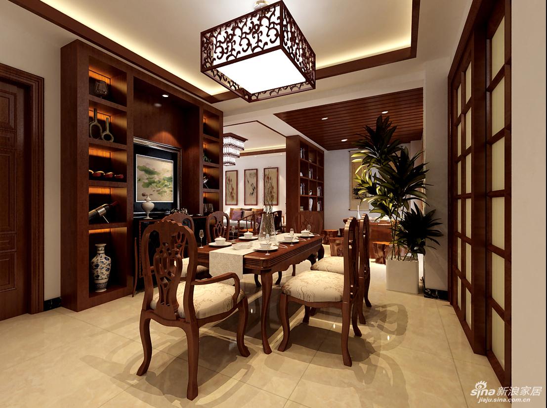 中式水墨画般的背景墙砖及边框,还有中式的柜子,在装饰上并没有传统中式宫庭般的复杂结构装饰,但仍不失中式风韵,其家具仍有浓厚的书卷味,在极简主义当道的今天,具有禅味的中式风格,以其简洁明快的线条及耐人寻味的内涵,让家居兼具现代风格气息和古典文化的韵。