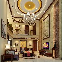 城启天鹅湾230 平米中式风格