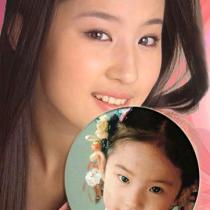 刘亦菲汤唯罕见童年家居照 女大十八变的女星们
