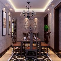 文化气息浓厚的中式风格三居室