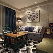 118平现代混搭之家 紫色摩登空间