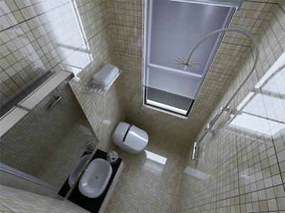 卫生间是家庭成员进行个人卫生的重要场所,实用性强,利用率高,本案合理巧妙的利用每一寸面积。贴马赛克体现简洁干净的环境。