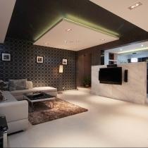 开放式设计的范 12万装修120平后现代美居