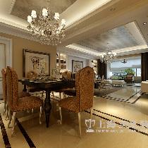 东明花园三室两厅装修欧式142平效果图——餐厅