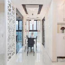金地艺境/88平两居室/简约舒适温馨装修设计