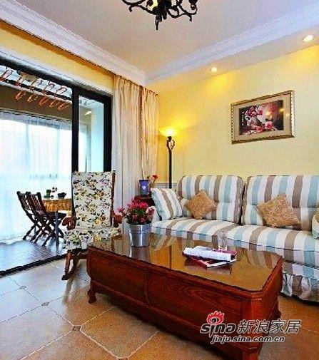 客厅条纹沙发