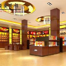 合肥烟酒茶专卖店装修设计——专业烟酒店装修色彩高雅