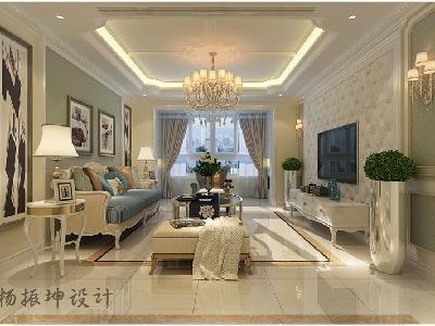 【中海国际社区】简欧风格装修,三居室室内装修|实创装饰